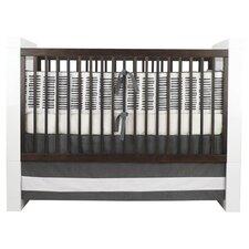 Sticks Motif Crib Bedding Set in Pewter
