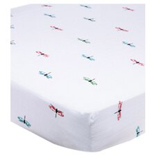 Organic Fitted Crib Sheet in White