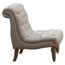 Hutton Nailhead Fabric Slipper Chair