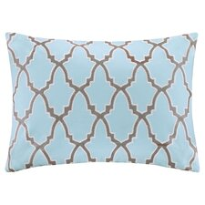 Embroidered Lumbar Pillow in Blue