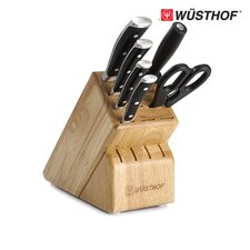 Classic Ikon 7 Piece Walnut Knife Block Set
