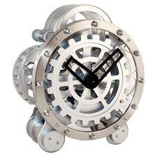 Gear Clock in Chrome