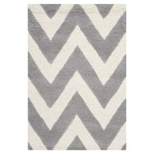 Cambridge Chevron Ivory & Grey Rug