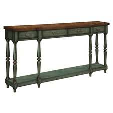 Console Table in Brown & Green