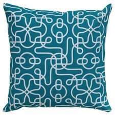 Ashley Reversible Throw Pillow in Teal