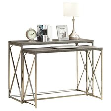 2 Piece Nesting Console Table Set