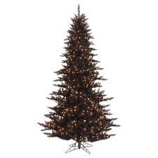 5.5' Lighted Black Fir Christmas Tree