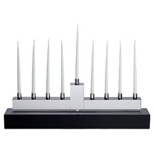 Hanukkah Menorah in Black