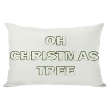 Holiday Oh Christmas Tree Reversible Lumbar Pillow