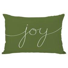 Holiday Joy Lumbar Pillow in Green