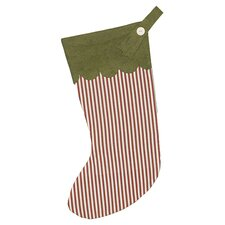 North Pole Drummer Drumming Stocking in Red & Green