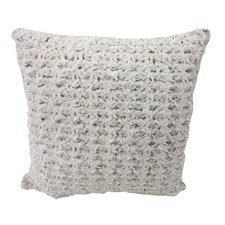 Rose Petal Faux Fur Throw Pillow