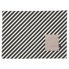Striped Dinner Mat in Black