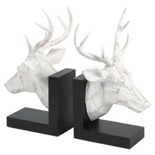 Joseph Deer Bookend in White