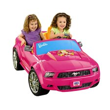 Power Wheels Barbie Mustang 12V Battery Powered Car