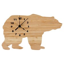 Northwoods Wall Clock in Natural