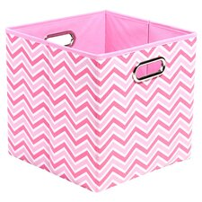 Rose Zig Zag Folding Storage Bin in Pink