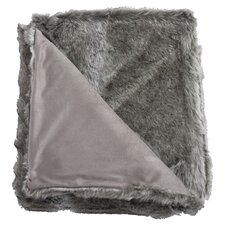 Koala Faux Fur Reversible Throw In Grey
