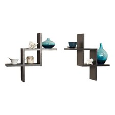Reversed Criss Cross Shelf (Set of 2)