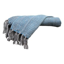 Cable Knit I Cotton Throw Blanket