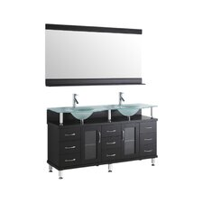 "Rocco 61"" Bathroom Vanity Set with Double Sink"