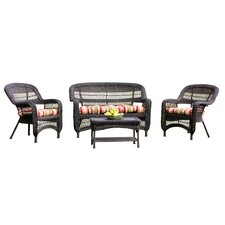 Portside 4 Piece Lounge Seating Group with Cushions (Set of 4)