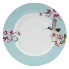 With Love Porcelain Breakfast Plate in Blue