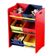 Three Tier Coloured Storage Bin Unit