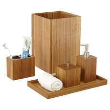 Bamboo 5 Piece Bath & Vanity Set
