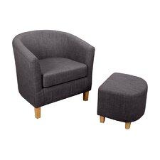 Classic Tub Chair & Ottoman Set