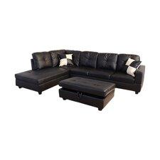 Della Sectional Sofa with Storage Ottoman