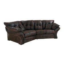 Florida Leather 4 Seater Corner Sofa