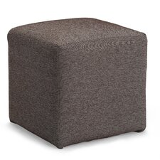 Axis Cube Ottoman in Ivory