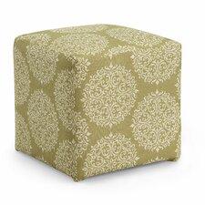 Axis Gabrielle Cube Ottoman in Moss