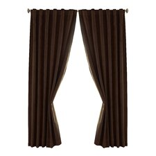 Absolute Zero Velvet Rod Pocket Window Curtain Panel