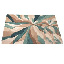 Infinite Teal Tufted Rug