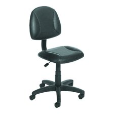Adjustable Low-Back Leather Office Chair