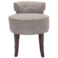 Megan Vanity Stool in Gray