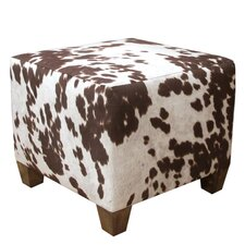 Udder Madness Pouf Ottoman in Brown & White