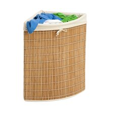 Bamboo Corner Hamper in Natural