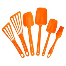 6 Piece Kitchen Utensil Set in Orange