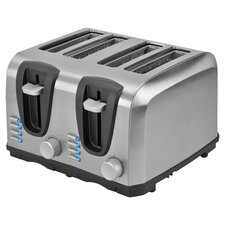 4 Slice Toaster in Stainless Steel