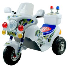 Police Motorcycle in White