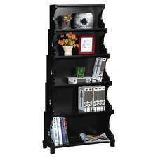 Cosma 5 Shelf Bookcase in Antique Black