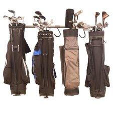 Wimble 17 Piece Golf Bag Rack Set in Brown