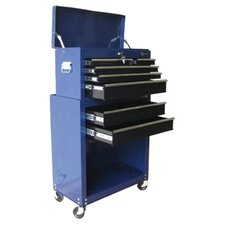 """24.3"""" Chest & Roller Cabinet in Blue"""