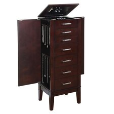 Kallone Jewelry Armoire in Dark Espresso