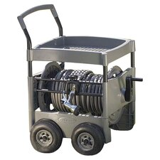 Steel-Core Hose Reel Cart in Gray