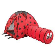 LadyBug Tent & Tunnel in Red