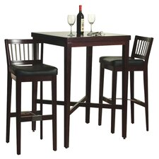 3 Piece Pub Table Set in Cherry